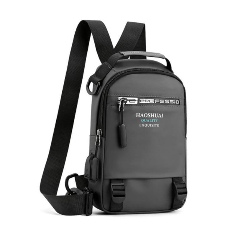 Nowa męska wodoodporna nylonowa talia torba torby Camping pakiet USB torba na klatkę piersiowa wielofunkcyjna torba na ramię saszetka biodrowa