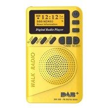 Tasche Dab Digital Radio, 87,5-108 Mhz Mini Dab + Digital Radio mit Mp3 Player Fm Radio Lcd Display und Lautsprecher