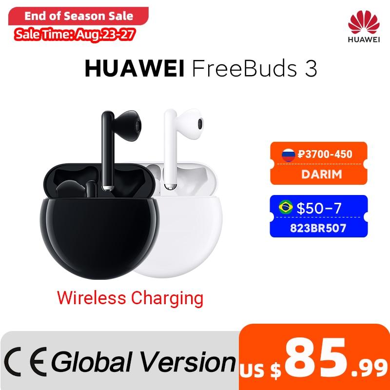 In Stock Original HUAWEI FreeBuds 3 FreeBuds3 Bluetooth Earphone TWS Wireless Earphone Kirin A1 Chip 20 Hours ANC Function