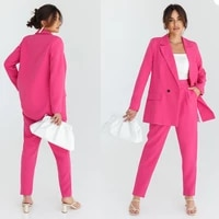 spring new design women suits classic elegant 2 pieces female blazer custom made office lady high quality casual wear