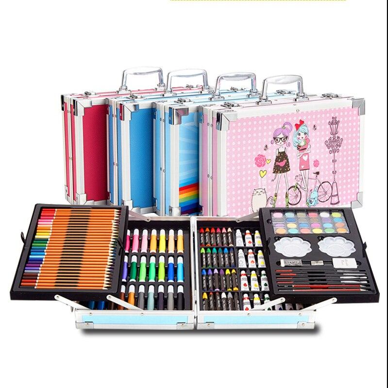 145 pieces Watercolor Pen Set  Double Aluminum Alloy Children's Brush Painting Set Graffiti Art Supplies Graffiti