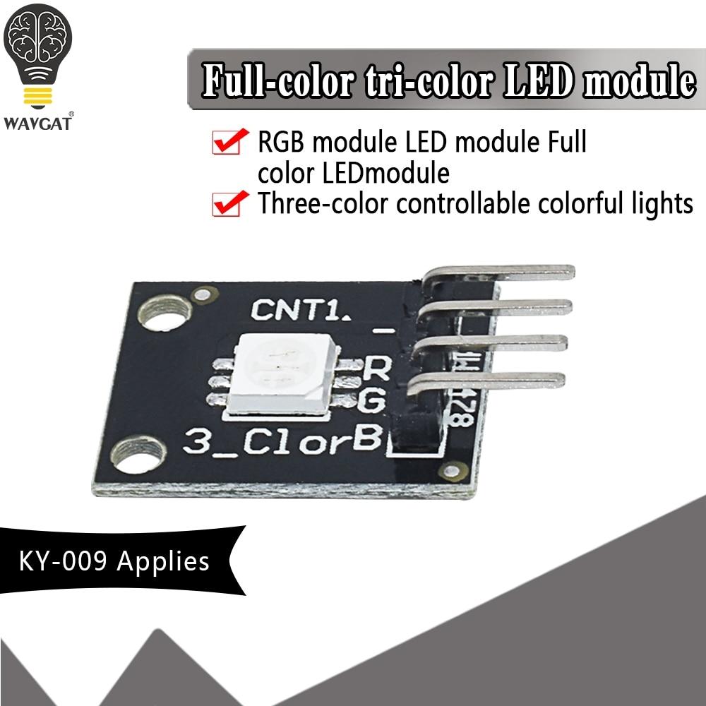 1PCS KY-009 5050 PWM Modulator RGB SMD LED Module 3 Color Light For Arduino MCU Raspberry CF Board Three Primary Color