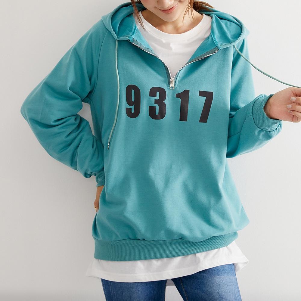 Women's Hoodie With Zipper 2021 Straight Long Sleeve Hooded Sweatshirt Korean Style Casual Loose Pul
