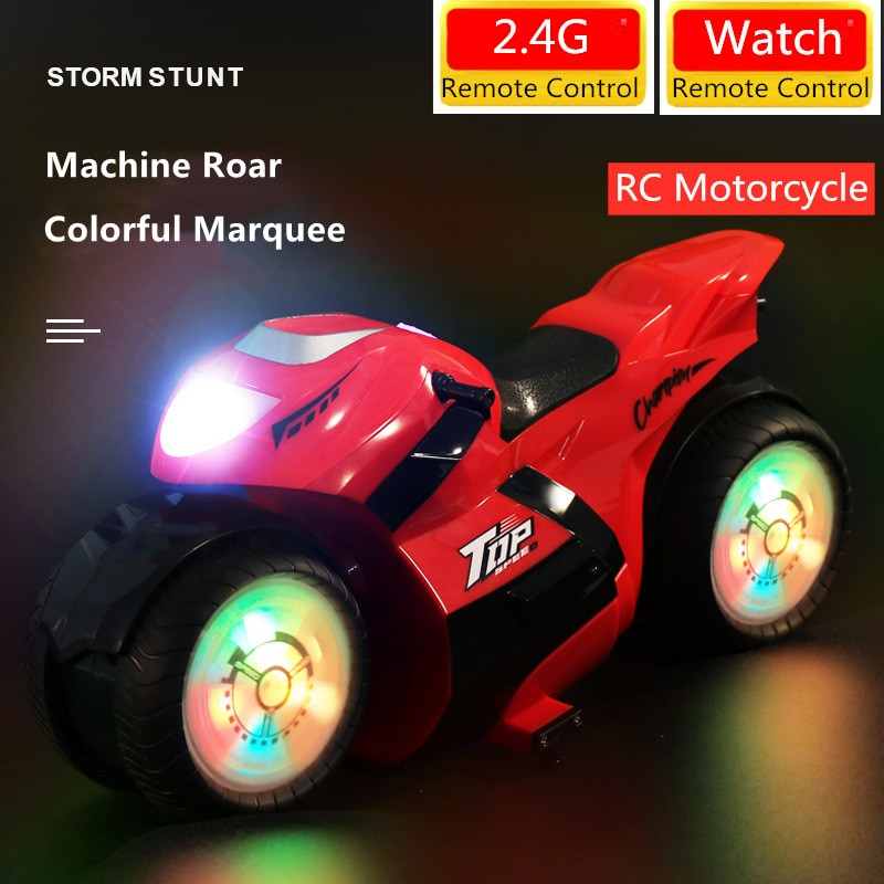 High Speed Remote Control RC Stunt Motorbike Watch Control RC Racing Motorbike RC Motorcycle Two Mode Control Long Distance Cars