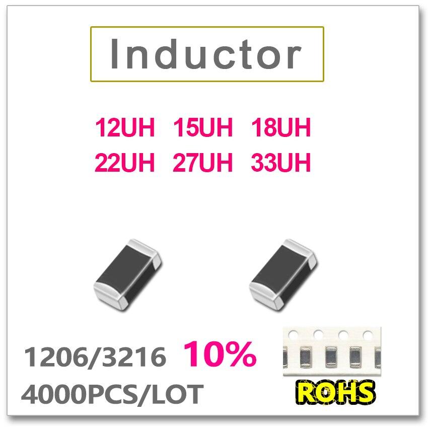 JASNPROSMA 1206, 3216 de 4000 Uds SMD multicapa de baja Inductor de frecuencia 10% 12UH 15UH 18UH 22UH 27UH 33UH SMD nuevo de alta calidad