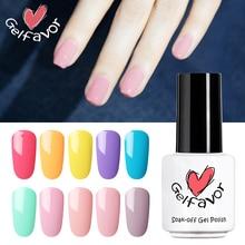 Clearance Gelfavor Gel Polish Manicure UV Gel Nail Polish Soak off Hybrid Varnish White Color Nail Art For Nails Sticker Design