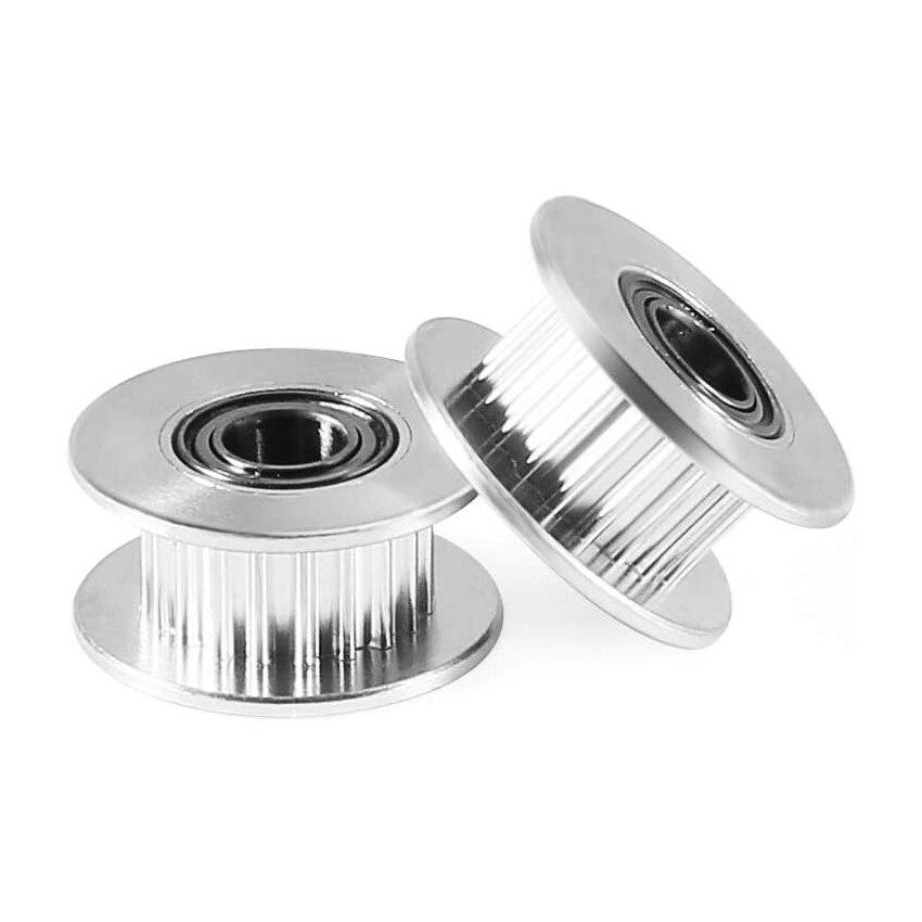 GT2 2GT 5 Mm Boring Aluminium Tand Distributieriem Spanrol 20 Tanden 5 Mm Boring Voor 3D Printer Accessoires 6 Mm Breedte Distributieriem
