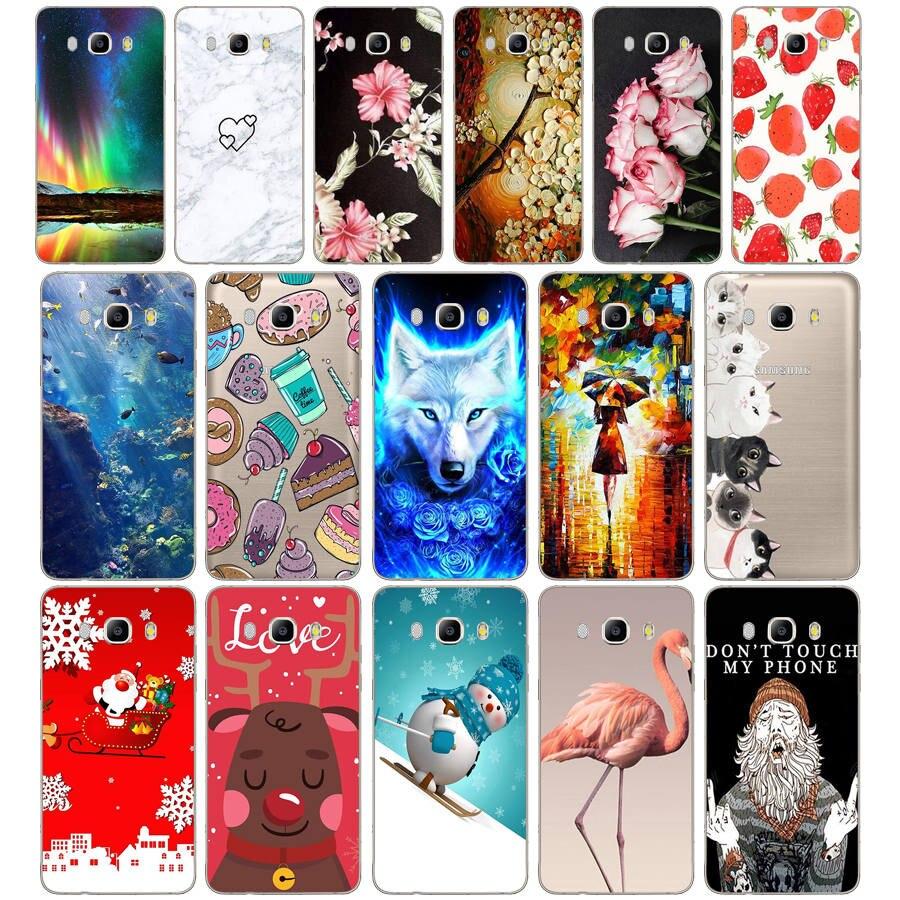 Funda de teléfono para Samsung Galaxy J5 2016 J510F silicona suave TPU protector de historieta fundas para Samsung J5 2016 J510 parachoques