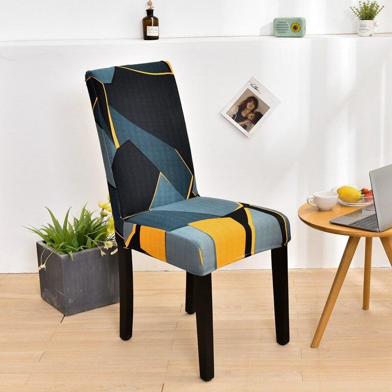 Универсальный чехол для стула обеденный чехол для кресла спандекс эластичные чехлы на кресла Чехол для стула с геометрическим узором декор...