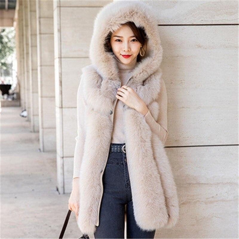 Лидер продаж, Женское зимнее пальто, жилет из натурального Лисьего меха, модная одежда, пальто из натурального Лисьего меха, Меховая куртка, ...