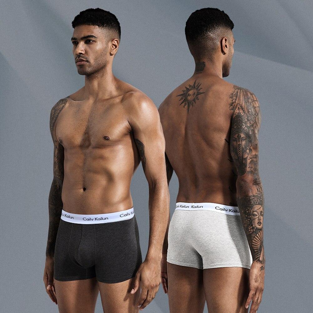 5Pcs Cotton Men Underwear, Men's Solid Color Panties, Breathable Man Briefs, Large Size L-4XL Convex Pouch For Men Antibacterial
