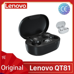 Беспроводные наушники Lenovo QT81/XT91 TWS с функцией сна, Bluetooth 5,0, интеллектуальная игровая гарнитура с шумоподавлением, bluetooth inalambrico