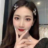 new headgear alloy handmade diamond scissors hairpin ladies korean temperament ins hairpin jewelry