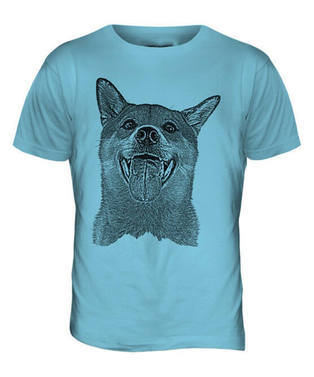 Shiba Inu Sketch Mens impreso camiseta gran regalo para el amante de los perros Spitz Japón gracioso camiseta