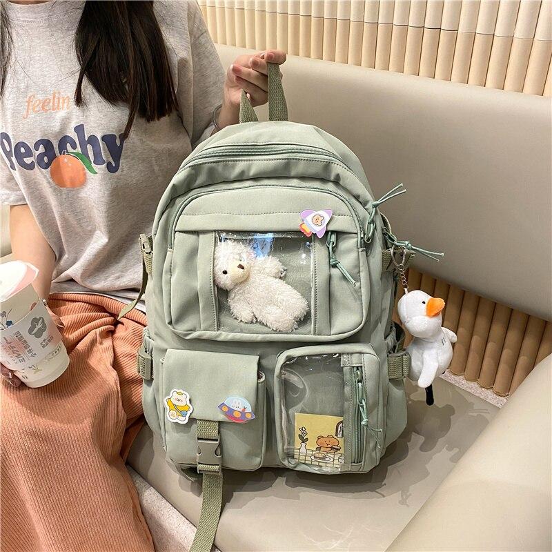 Cute Women Large Capacity Backpack Waterproof Nylon Female Schoolbag College Lady Laptop Backpacks Kawaii Girl Travel Book Bags