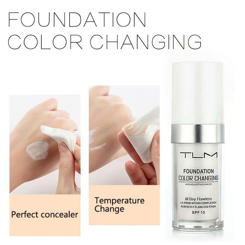 TLM complexión líquido, Base correctora, Base hidratante, humectante, cambio de Color, Base de imprimación, crema TSLM1