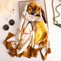 2021 korean style 90180cm scarfs for ladies foulard femme fashion print bohemia shawls and wraps women new hijab stole bandana