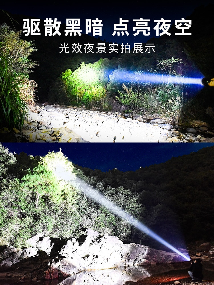 Outdoor Waterproof Flashlight Portable Camping Military Powerfu Rechargeable Flashlight Linterna Led Lighting Torches DB60SD enlarge
