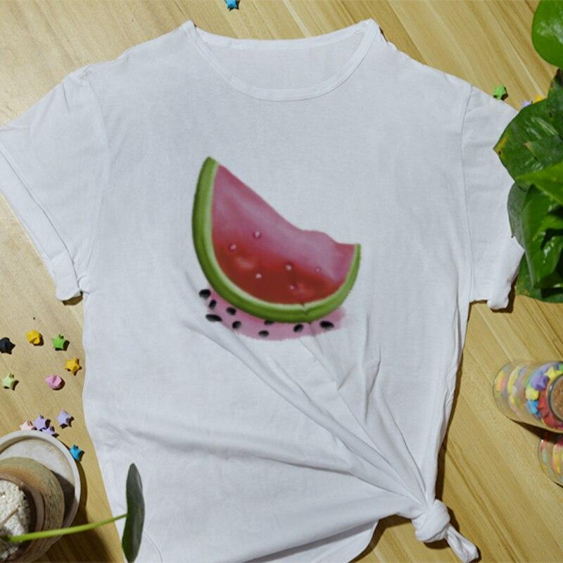 Summer Daily Casual Women Cotton T-Shirt Fashion Top Tees Funny Print Cartoon Cute Basic Short Sleeve O-Neck Shirts for Women