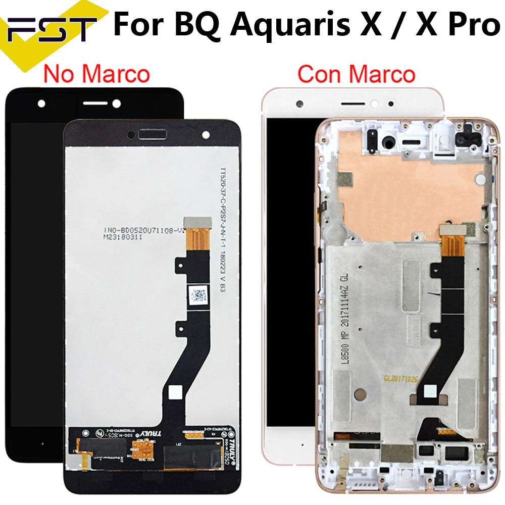 100% اختبار ل BQ Aquaris X/X برو شاشة الكريستال السائل + مجموعة المحولات الرقمية لشاشة تعمل بلمس استبدال أجزاء ل BQ X برو لوحة ال سي دي اللمس
