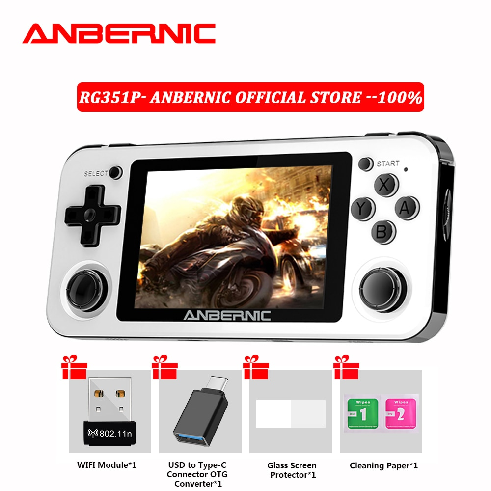 RG280V 350P RG351P ANBERNIC Retro Game RG350M Linux System PC Shell PS1 Game Player Portable Pocket Handheld Game Console RG351M