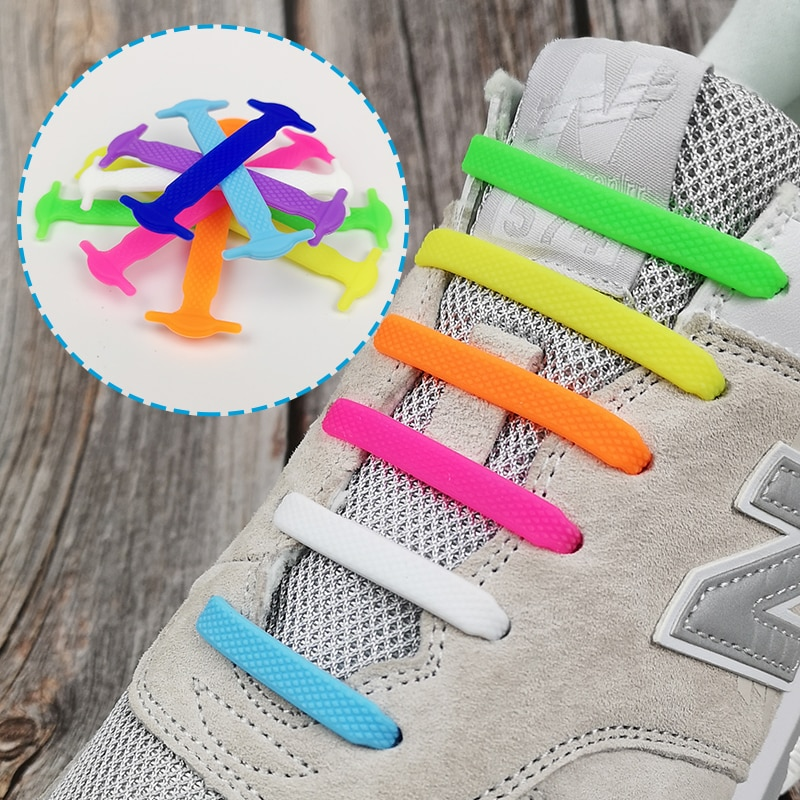 Silicone Elastic Shoelaces Creative Lazy No Tie Shoelace Lacing Kids Adult Sneakers Quick Shoe Lace