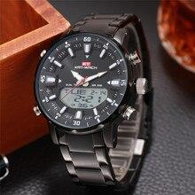 Relojes de marca de lujo para hombre, relojes deportivos LED de cuarzo Digital para hombre, reloj de pulsera militar resistente al agua, relojes negros