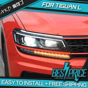 Car Styling Head Lamp case for VW Tiguan Headlights 2017-2019 New Tiguan LED Headlight LED DRL H7 D2H Hid Angel Eye Bi Xenon