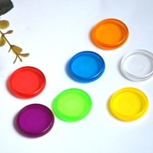 100 piezas 28mm disco portátil Color seta agujero plástico anillo discos extraíble hoja suelta cuaderno DIY libro de mano accesorios anillo