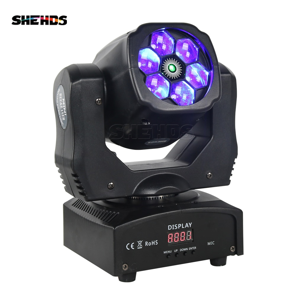 SHEHDS جودة عالية 6X15W شعاع الليزر RGBW كشاف أمامي متحرك دعم وسائط متعددة DMX لحفلة DJ نادي Patry KTV