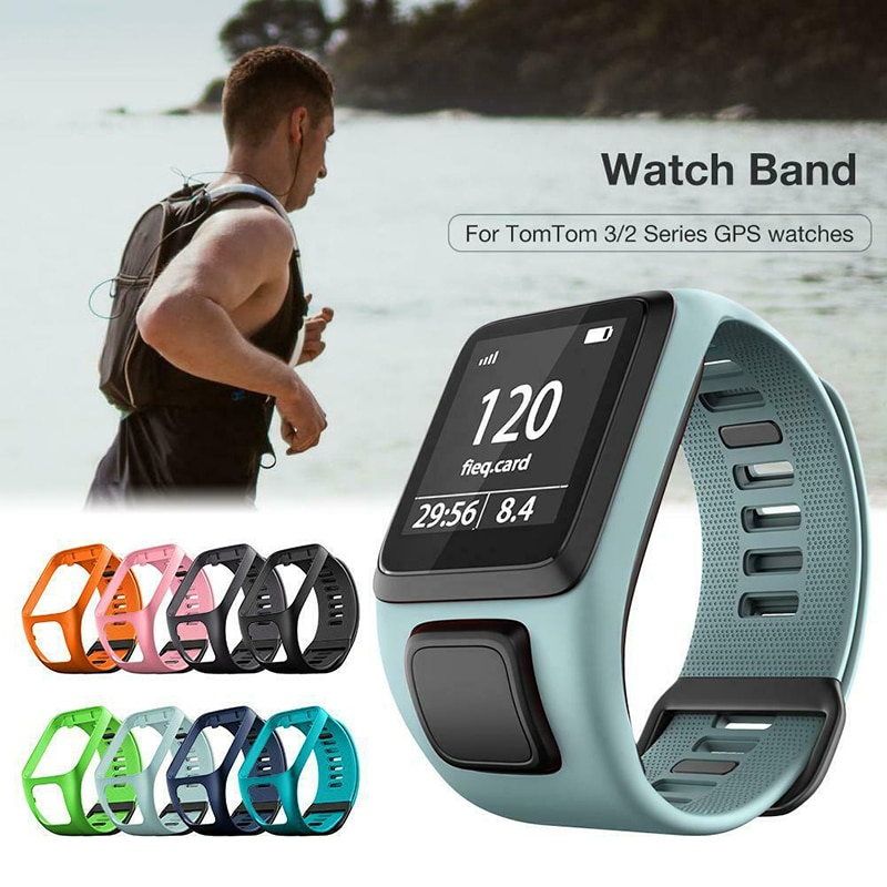 High quality Original Colorful Soft Silicone Replacement Wrist Band Strap For TomTom Runner 2 3 Spar