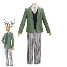 BEASTARS Costume cerf Cosplay Louis hommes uniformes scolaires adulte Halloween costume vestes chemise pantalon gilet cravate ceinture Costume