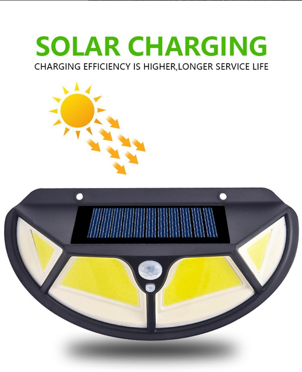Solar Led Light Outdoors Solar Lamps Sunlight Motion Sensor Street Light Solar Light Outdoors for Garage Garden jardin luz solar