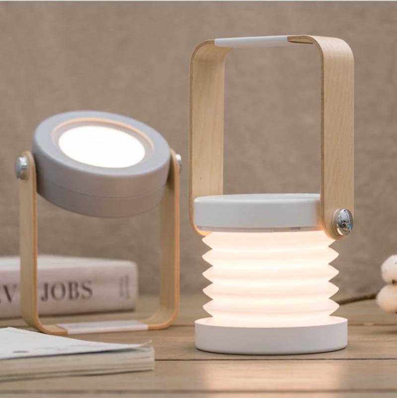 مصباح LED متعدد الوظائف قابل للطي USB قابل لإعادة الشحن ، مصباح طاولة محمول قابل للتعديل للإضاءة الداخلية والخارجية والتخييم