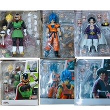 SHF Dragon Ball Figur Sohn Goku Super Saiyan Blau Haar Gokou Saiyaman Gohan Hercule Mr. Satan Action-figuren Modell Spielzeug geschenk