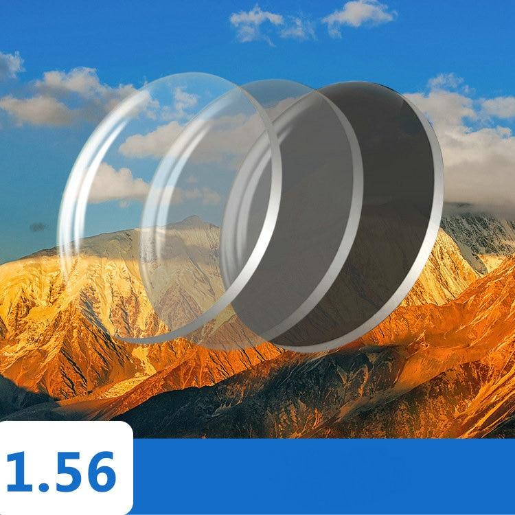 سلسلة فوتوكروميك 1.56 1.61 1.67 وصفة طبية الراتنج شبه الكرومي نظارات العدسات قصر النظر عدسة النظارات الشمسية