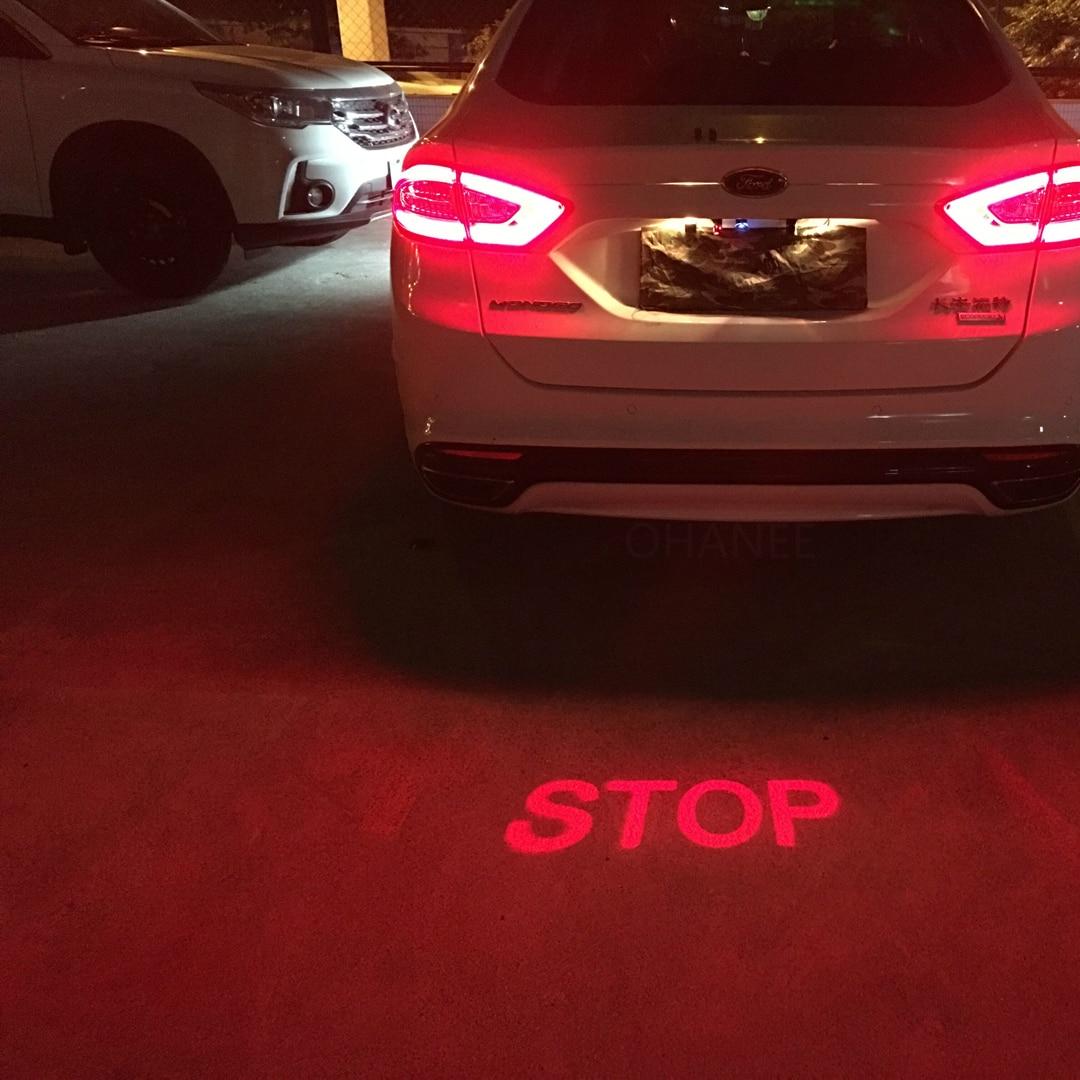 Car Anti-collision LED Warning Light Laser Fog Light Auto Anti-fog Parking Stop Brake Signal Indicators Motorcycle Car-Styling