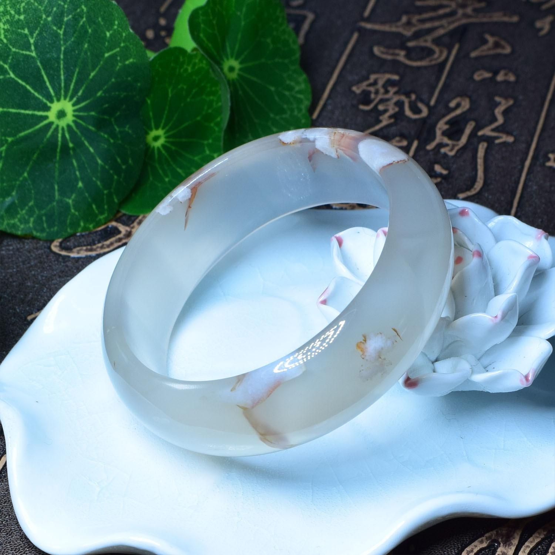 جديد زهر الكرز الطبيعي العقيق الكوارتز الكفة سوار أساور العصرية شفاء الطاقة حجر حلية مجوهرات