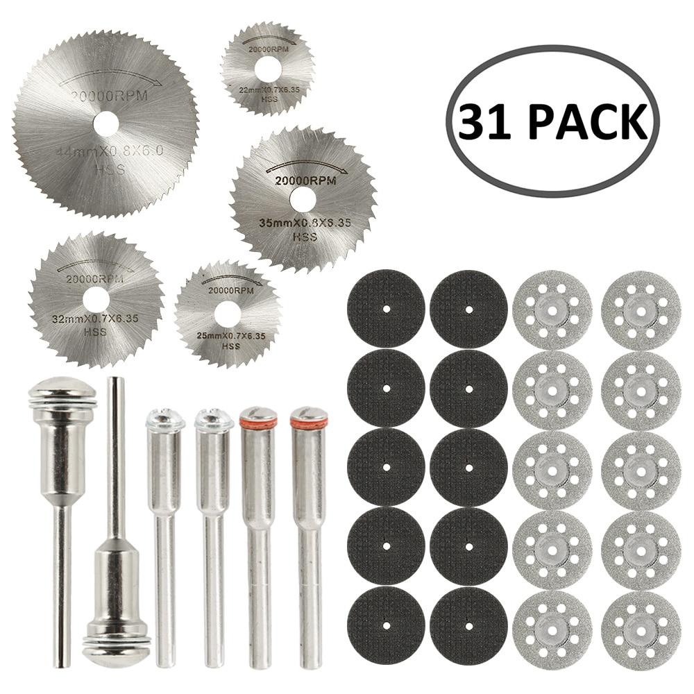 31 Uds ruedas de corte de diamante HSS hoja de sierra circular - Herramientas abrasivas - foto 2