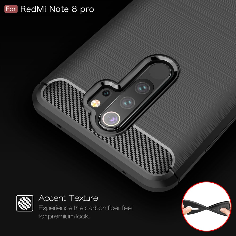 Carbon Fiber Coque Cover 6.3For Xiaomi Redmi Note 8 Case For Xiaomi Redmi Note 8 8T Note8 Note8T Pro Phone Back Coque Cover Case
