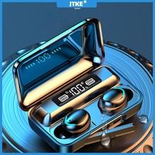 JTKE F9 наушники вкладыши TWS с Беспроводной Bluetooth гарнитуры V5.0 9D стерео наушники спортивные Водонепроницаемый наушники Беспроводной наушники с микрофоном для Андро