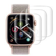 9d completa curvado macio vidro temperado para apple watch 38 40 42 44 mm protetor de tela em eu assistir banda cinta 5 película de vidro protetor