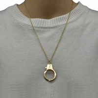 gothic handcuffs pendant necklace chain collares punk collar statement necklaces women men friendship jewelry gifts