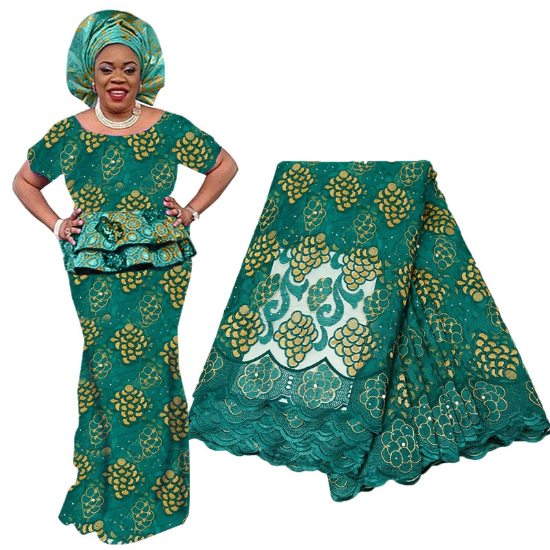 Best Selling Latest Nigeria Laces Fabric 2019 Lace Flowers Beaded For Women French Net Embroidery