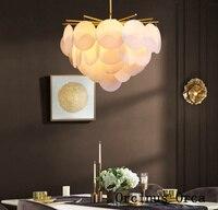 Postmodern creative personality leaf chandelier living room dining room bedroom Nordic luxury LED white Chandelier