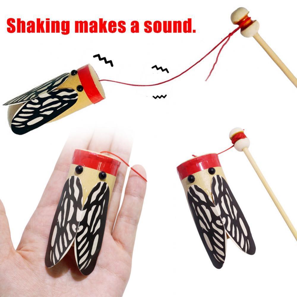 Детская модель цикады, деревянная игрушка, качалка, трансмиссия звука, эксперимент «сделай сам», обучение, игрушка для детей