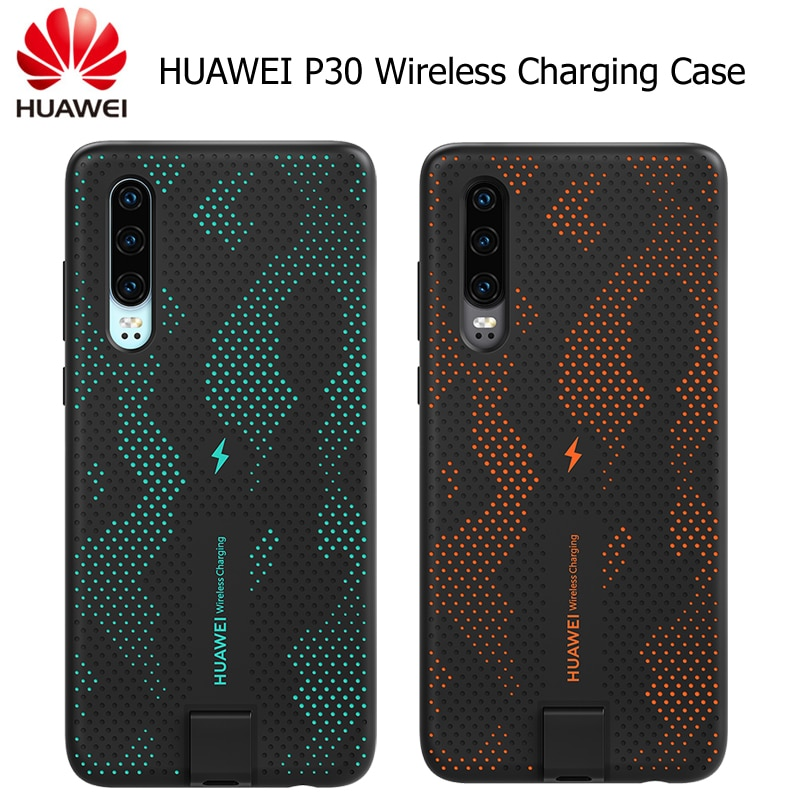 HUAWEI P30 funda de carga inalámbrica oficial Huawei CNR216 TUV Qi 10W cubierta trasera magnética admite montaje en coche ELE-L09/L29