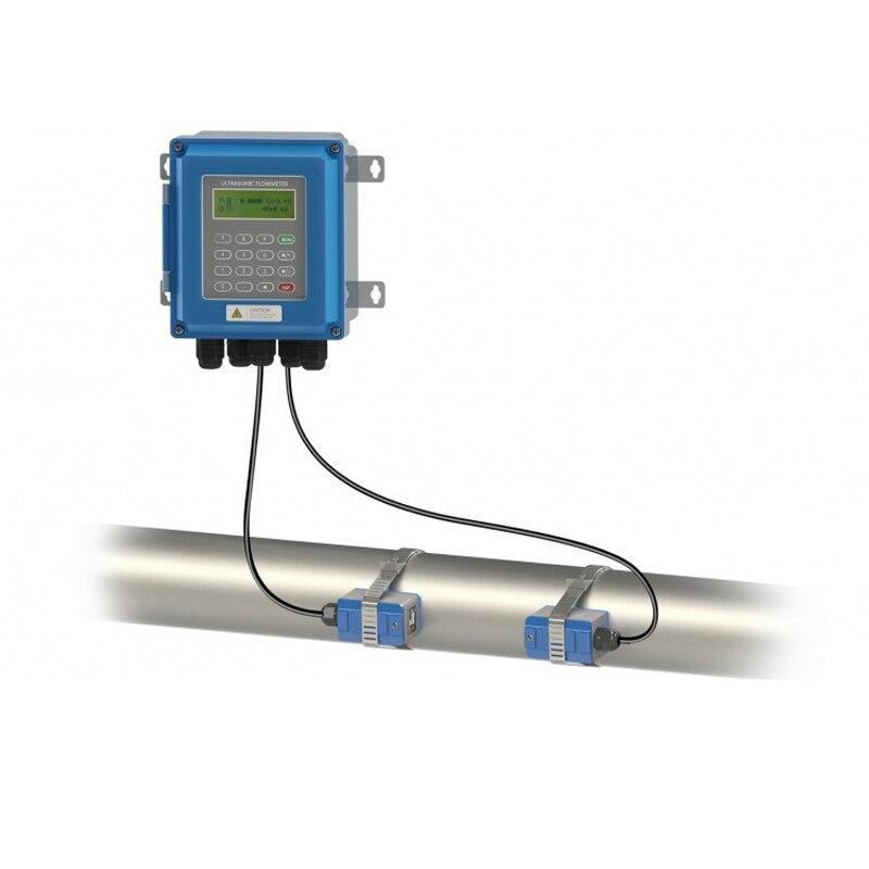 TUF-2000B TS-2/TM-1 محول DN15-100mm/DN50-700mm السائل مقياس الجريان الحائط نوع ModBus بالموجات فوق الصوتية تدفق المياه متر
