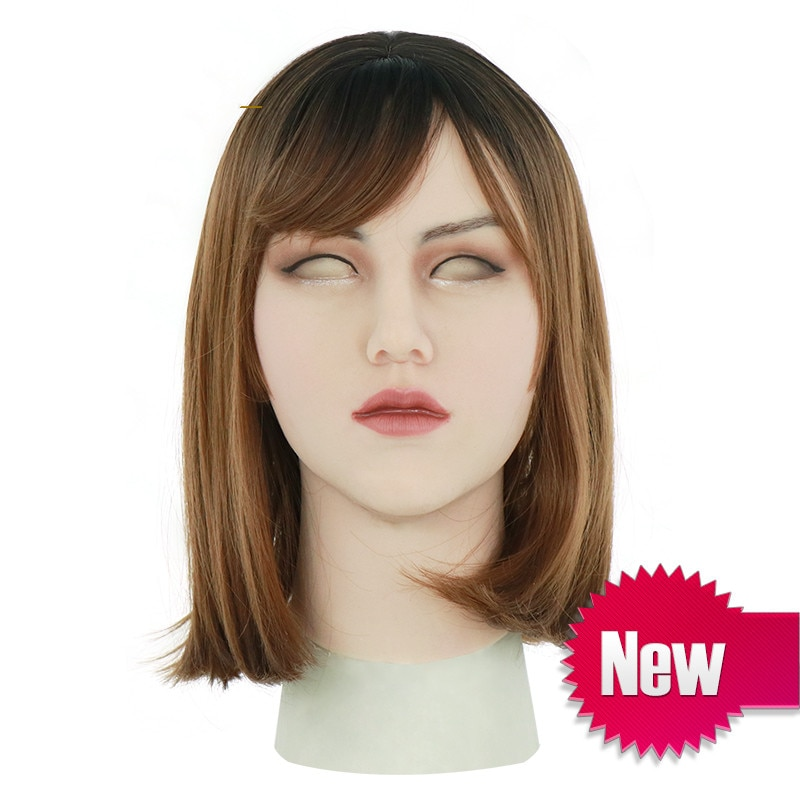 Silicone Mask Artificial Realistic Skin False Mask Latex Sexy Cosplay for Crossdresser Transgender Male Shemale Drag Queen New