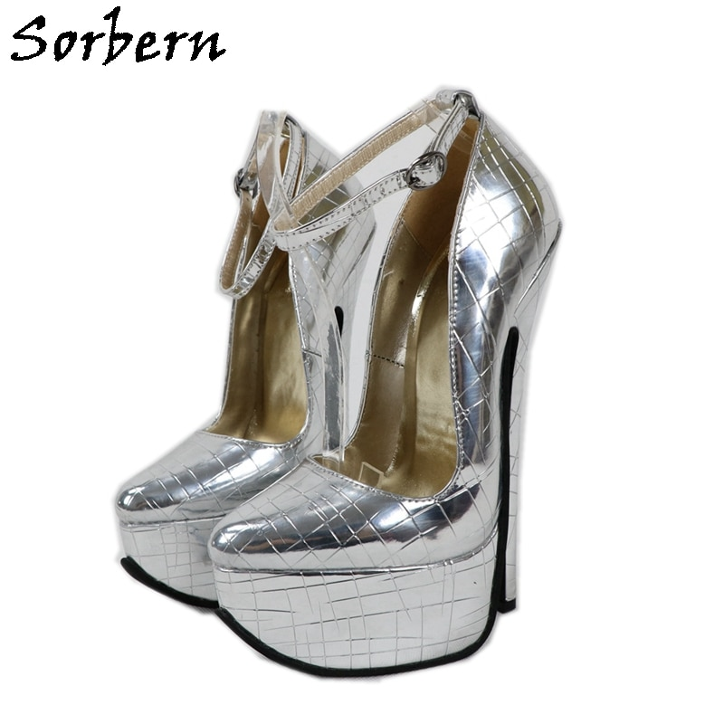 Sorbern حجر لامع المرأة حذاء بكعب غريب حجم مخصص Transgirls الكعوب الطرف اسحب الملكة أحذية 12 أحذية نسائية الكعوب